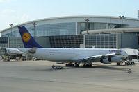 D-AIGH @ DFW - Lufthansa at the gate - DFW Airport, Texas