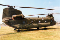 D-665 @ EGVA - CH-47D Chinook, callsign Delta 665, of 298 Squadron Royal Netherlands Air Force on display at the 1997 Intnl Air Tattoo at RAF Fairford. - by Peter Nicholson