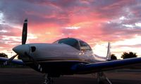 N1102V @ SCK - Beautiful sunset in Stockton - by Robert Herrera
