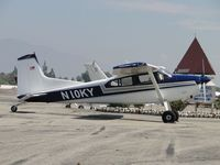 N10KY @ CCB - Parked by Maniac Mike's and wing tip states, Dogwagon 185 - by Helicopterfriend