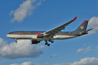 JY-AIF @ EGLL - Royal Jordainian Airbus 330 arriving at Heathrow