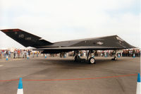 86-0823 @ EGVA - F-117A Nighthawk, callsign Trend 52, of 9th Fighter Squadron/49th Fighter Wing at Holloman AFB on display at the 1997 Intnl Air Tattoo at RAF Fairford. - by Peter Nicholson