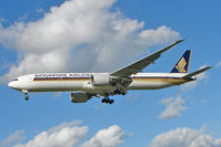 9V-SWN @ EGLL - Singapore Airlines Boeing B777-312ER, c/n: 34579 at Heathrow