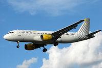 EC-IZD @ EGLL - Vueling's Airbus A320-214, c/n: 2207 at Heathrow
