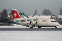 HB-IXX @ EGCC - Swiss European Airlines - by Chris Hall