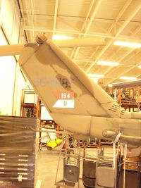 66-15185 @ ALO - Here is her tail with the old Waterloo cavalry unit's designation.  She has an L-13 engine. - by Bookie