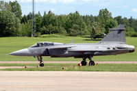 39216 @ ESCF - JAS 39C Gripen fighter taxying at Malmen Air Base. - by Henk van Capelle