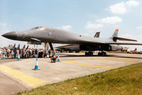 85-0075 @ EGVA - Another view of the B-1B Lancer from Ellsworth AFB's 28th Bombardment Wing on display at the 1997 Intnl Air Tattoo at RAF Fairford. - by Peter Nicholson