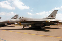 15103 @ EGVA - F-16A Falcon, callsign Portuguese Air Force 2474, of 201 Esquadron on display at the 1997 Intnl Air Tattoo at RAF Fairford. - by Peter Nicholson