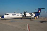 HA-LQB @ LHBP - Malev Dash 8-400
