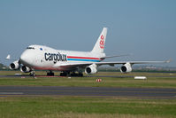 LX-MCV @ LHBP - Cargolux Boeing 747-400