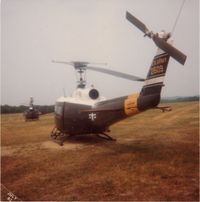 72-21509 @ CMY - UH-1H dressed in Army dress colors.  Usually used by high ranking individuals.  She got sold and moved to England. - by Bookie