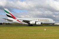 A6-EDF @ EGCC - Emirates Airbus A-380-841, c/n: 007 at Manchester