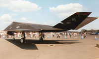 86-0823 @ EGVA - F-117 Nighthawk of 9th Fighter Squadron/49th Fighter Wing at Holloman AFB on display at the 1997 Intnl Air Tattoo at RAF Fairford. - by Peter Nicholson