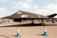 86-0823 @ EGVA - Another view of Trend 52, an F-117A Nighthawk of 9th Fighter Squadron/49th Fighter Wing on display at the 1997 Intnl Air Tattoo at RAF Fairford. - by Peter Nicholson