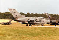 ZA490 @ EGQS - Tornado GR.1B of 12 Squadron lining up for take-off on Runway 05 at RAF Lossiemouth for a mission in the Summer of 1995. - by Peter Nicholson