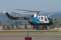 N105SM @ KCCR - CALSTAR 1981 MBB BO-105S in transition for EMS flight @ Buchanan Field/Concord, CA - by Steve Nation