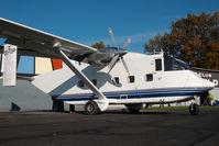 OE-FDP @ LOGF - Pink Aviation Skyvan
