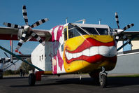 OE-FDK @ LOGF - Pink Aviation Skyvan