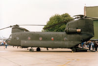 69-17114 @ MHZ - CH-47C Chinook of US Army's 295th Aviation Company on display at the 1985 RAF Mildenhall Air Fete. - by Peter Nicholson