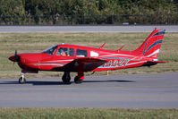 N44327 @ ORF - 1974 Piper Cherokee Arrow II N44327 taxiing to RWY 23 via Taxiway Charlie for departure to Cincinnati Municipal Airport (KLUK).