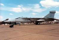 66-0031 @ MHZ - EF-111A Raven of RAF Upper Heyford's 42nd Electronic Combat Squadron/66th Electronic Combat Wing on display at the 1988 RAF Mildenhall Air Fete. - by Peter Nicholson