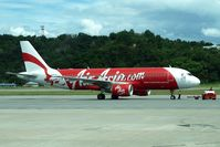 9M-AHW @ WBKK - Air Asia A320 at Kota Kinabalu