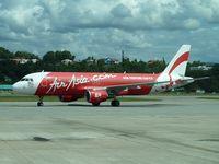 9M-AFH @ WBKK - Air Asia 2006 Airbus A320-214, c/n: 2826 at Kota Kinabalu