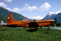 A-934 @ LSTA - One of the most beautiful airfields to take pictures was Raron the the Rhone valley. No fences and this mountenous background offered great opportunities.  It was closed in 1993.