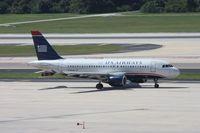 N750UW @ TPA - US Airways A319