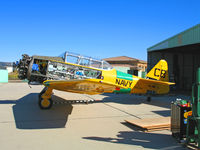 N12377 @ KCMA - North American SNJ-5 BuAer 85096 as CB/377 on Camarillo, CA home ramp on sunny January 2007 day - many panels removed - by Steve Nation