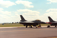 276 @ MHZ - F-16A Falcon of 332 Skv Royal Norwegian Air Force on the flight-line at the 1988 RAF Mildenhall Air Fete. - by Peter Nicholson