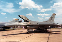 86-0270 @ MHZ - F-16C Falcon of 81st Tactical Fighter Squadron/52nd Tactical Fighter Wing based at Spangdahlem on display at the 1988 RAF Mildenhall Air Fete. - by Peter Nicholson