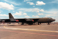 57-6476 @ MHZ - B-52G Stratofortress of Barksdale AFB's 2nd Bombardment Wing on display at the 1988 RAF Mildenhall Air Fete. - by Peter Nicholson