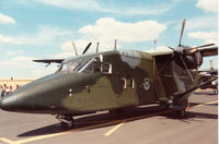 84-0467 @ MHZ - C-23A Sherpa named Upper Heyford of 10th Military Airlift Squadron based at Zweibrucken on display at the 1988 RAF Mildenhall Air Fete. - by Peter Nicholson