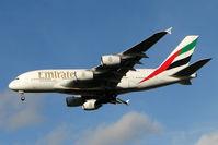 A6-EDK @ EGCC - Emirates A380 arriving at Manchester