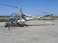 N36MV @ KMAE - 1978 Hiller UH-12E sprayer on Streeter Motor Sports/Streeter FS ramp - by Steve Nation