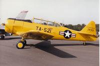 52-8521 @ EGQL - Harvard Mk.4 on display at the 1996 RAF Leuchars Airshow. - by Peter Nicholson