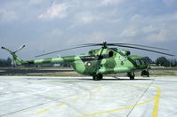 405 @ LBPG - Rare two tone green camo on this Bulgarian Mi-17. Seen during Co-operative Key 2001. - by Joop de Groot