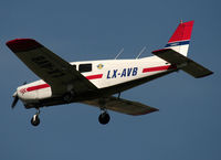 LX-AVB @ ELLX - Landing rwy 24 - by Shunn311