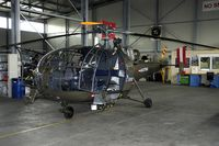 3E-KP @ LQBU - This Alouette is fitted with a ground radar on the nose that is being used to detect metal objects on the ground. Very useful during search mission in the wood areas of Bosnia. - by Joop de Groot