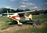 N6848B @ KCGS - Piper PA-22-150 Tri-Pacer with a tail wheel at College Park MD airfield