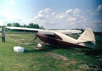 N8886K @ KCGS - Stinson 108-1 Voyager 150 at College Park MD airfield