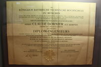 UNKNOWN - Certificate of Claude Dornier the Constuctor! - by Air-Micha