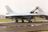 272 @ MHZ - F-16A Falcon of 332 Skv Royal Norwegian Air Force on the flight-line at the 1996 RAF Mildenhall Air Fete. - by Peter Nicholson