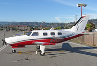 N3151G @ KSQL - Big George Aviation LLC (Stateline, NV) 2007 New Piper PA46-350P visiting KSQL/San Carlos, CA - by Steve Nation