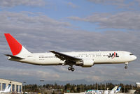 JA651J @ PAE - Ending a test flight - by Duncan Kirk