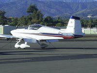 N132RV @ POC - Parked in transient parking - by Helicopterfriend