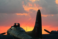 N7227C @ EFD - CAF B-17 Texas Raiders at sun rise. 2010 Wings Over Houston Airshow.