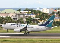 C-FWAF @ TNCM - Canjet landing at TNCM runway 10 - by Daniel Jef